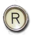 R Typewriter Key